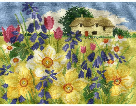 Spring Bloom Cross Stitch Kit