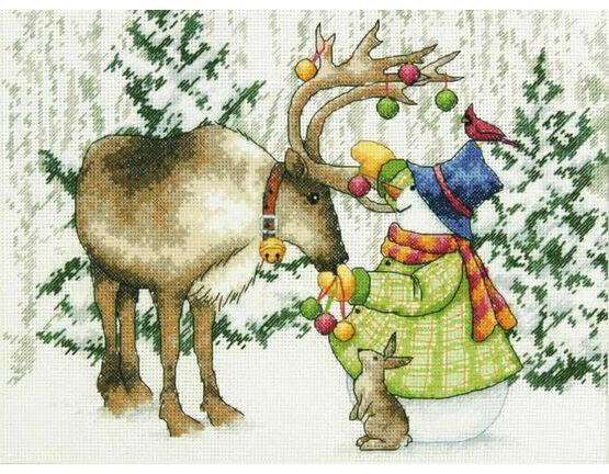 Ornamental Reindeer Cross Stitch Kit
