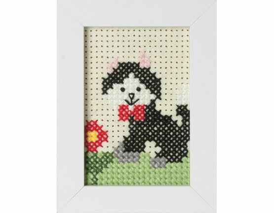 Cat Felt Cross Stitch Kit With Frame only £7.75