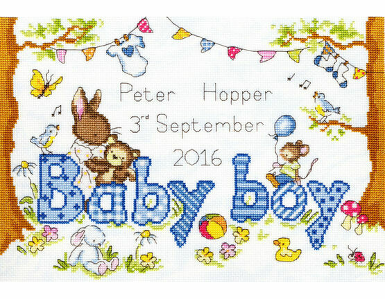 Bunny Love Boy Cross Stitch Kit