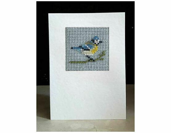Blue Tit Mini Beadwork Embroidery Card Kit
