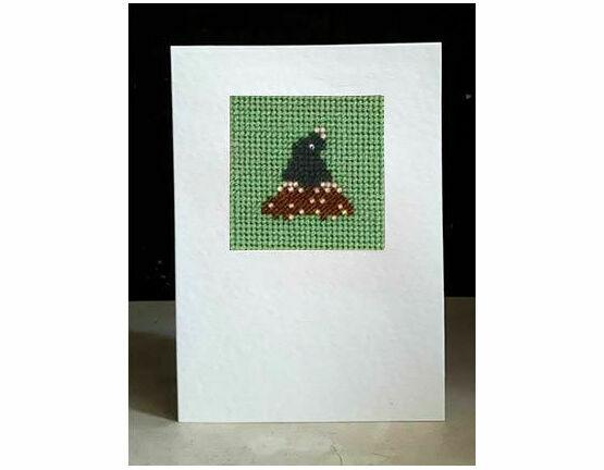 Bert The Mole Mini Beadwork Embroidery Card Kit