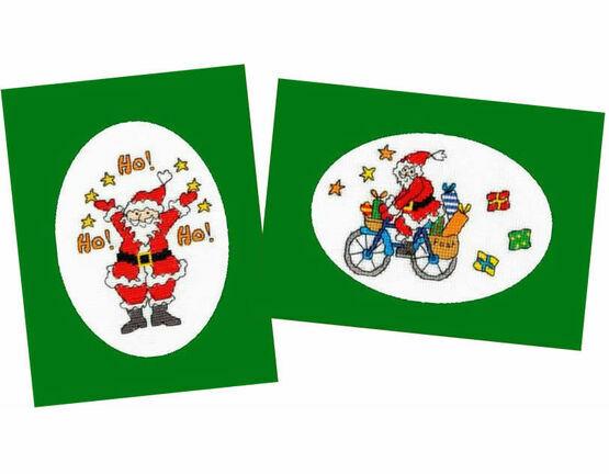 Christmas Post & Jolly Ho! - Set of 2 Cross Stitch Card Kits
