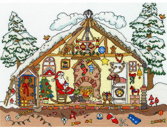 Cut Thru\' Christmas Bothy Cross Stitch Kit
