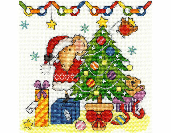 Christmas Mouse Cross Stitch Kit