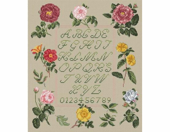 Floral Sampler By Jenny Barton Cross Stitch Kit