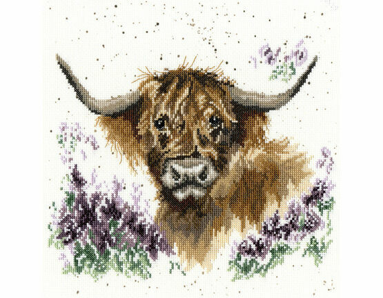 Highland Heathers Cross Stitch Kit