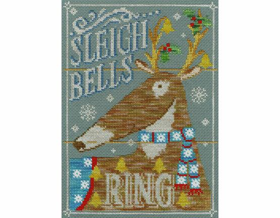 Sleigh Bells Ring Cross Stitch Kit