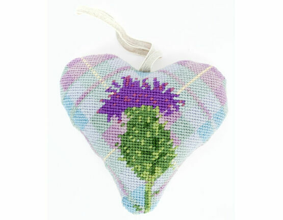 Tartan Thistle Lavender Heart Tapetry Kit