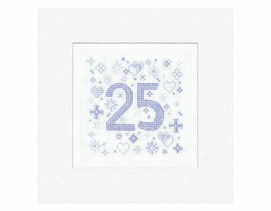 25th Celebration Cross Stitch Card Kit