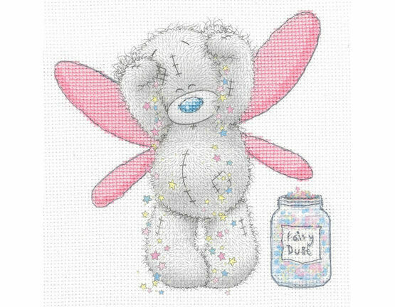 Tatty Ted Fairy Dust Printed Cross Stitch Kit