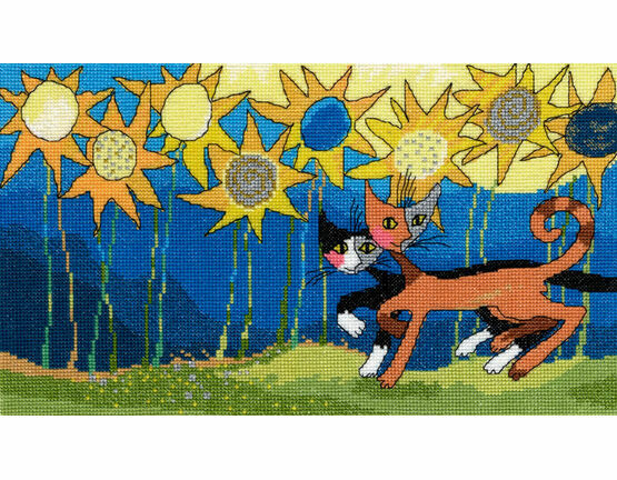 Sunflower Way Cross Stitch Kit