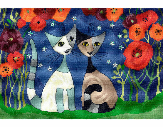 Poppy Nights Cross Stitch Kit