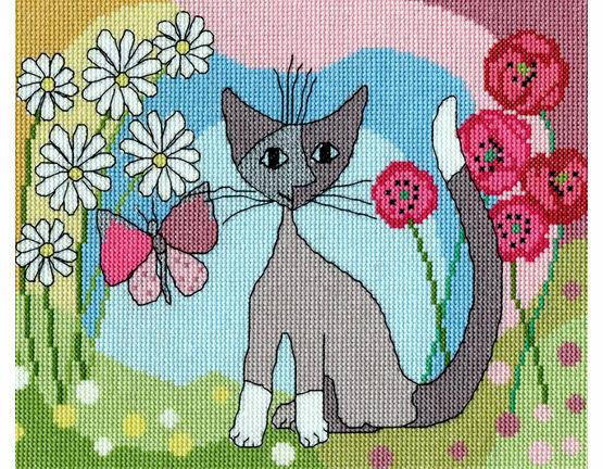 Lazy Daisy Cross Stitch Kit