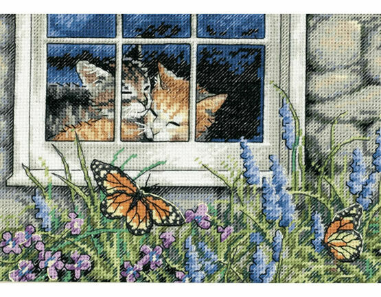Feline Love Cross Stitch Kit