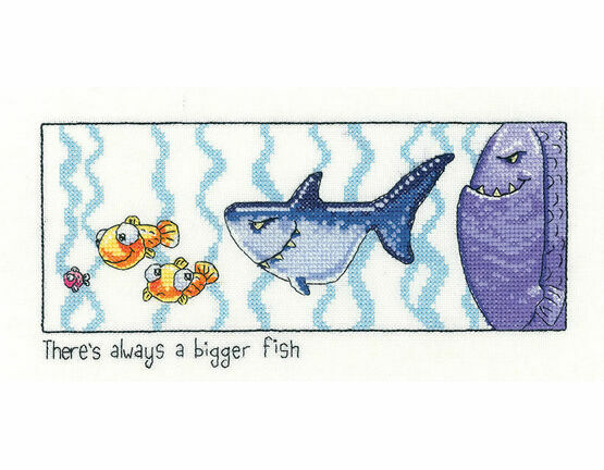Always Bigger Fish Cross Stitch Kit
