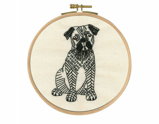 Doug The Pug Embroidery Kit