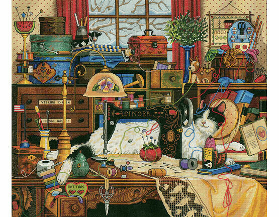 Maggie the Messmaker Cross Stitch Kit