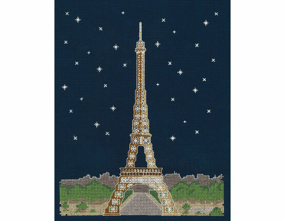 Paris By Night Glow In The Dark Cross Stitch Kit