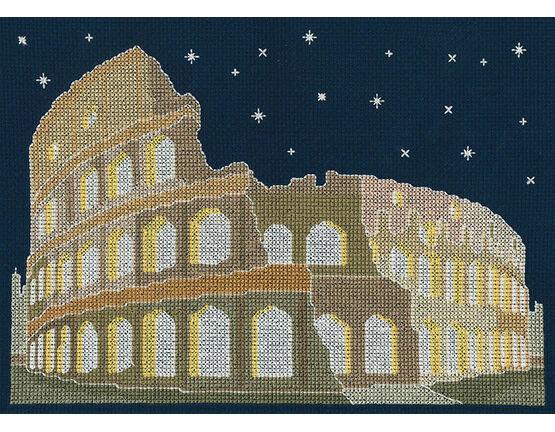 Rome By Night Glow In The Dark Cross Stitch Kit