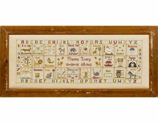 Animal Magic Birth Sampler Cross Stitch Kit