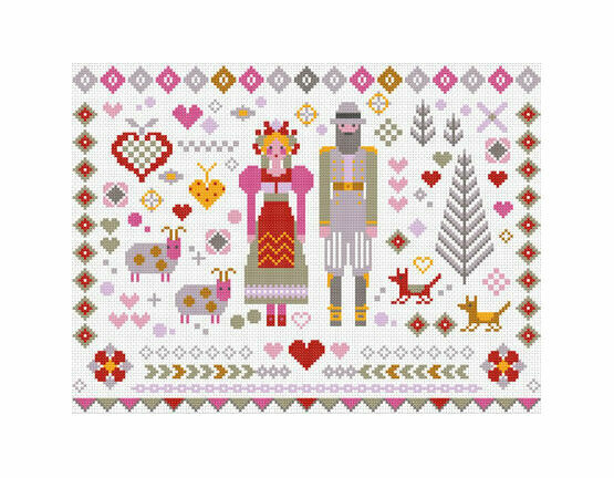 Folkies I Cross Stitch Kit