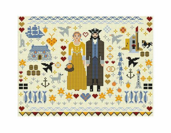 Cornish Folkies Cross Stitch Kit