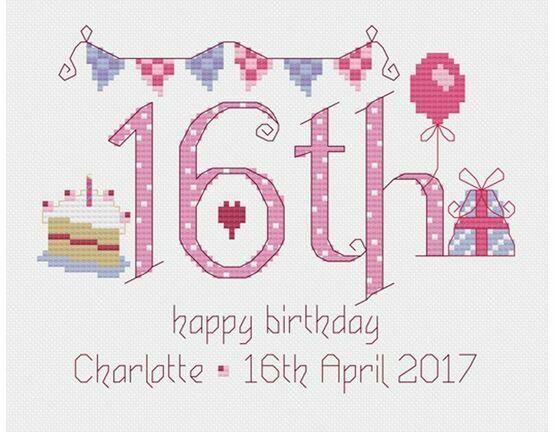 16th Birthday Cross Stitch Kit