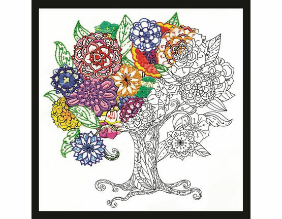 Tree Zenbroidery Fabric Pack
