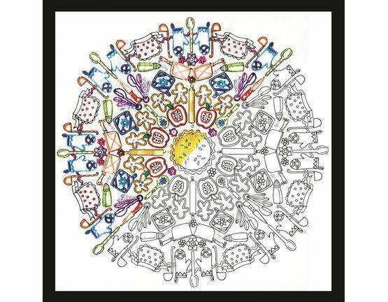 Kitchen Mandala Zenbroidery Fabric Pack