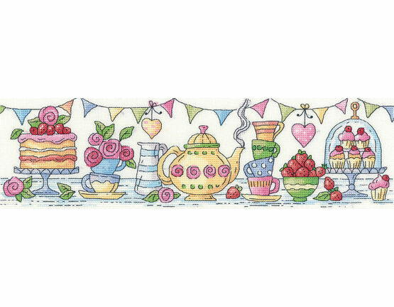 Afternoon Tea Cross Stitch Kit