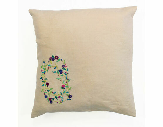 Sprig Spiral Embroidery Cushion Kit