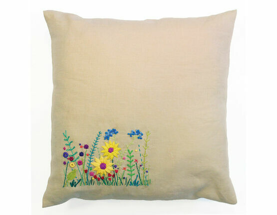 Secret Garden Embroidery Cushion Kit