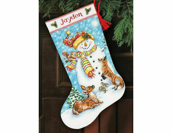 Winter Friends Stocking Cross Stitch Kit