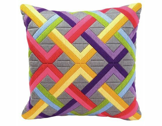 Bold Geometric Style 1 Long Stitch Cushion Panel Kit