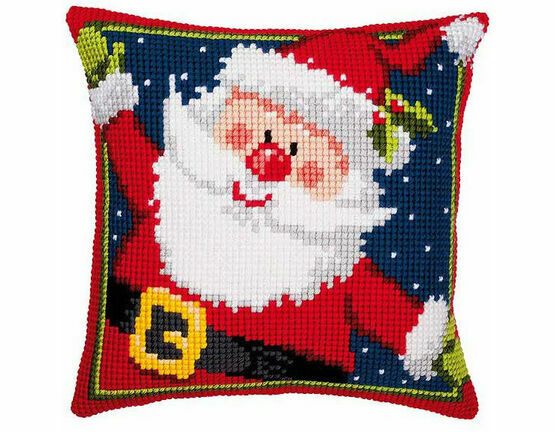 Father Christmas Chunky Cross Stitch Cushion Panel Kit
