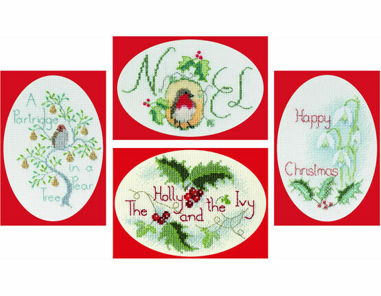 Classic Collection Christmas Card Cross Stitch Kits