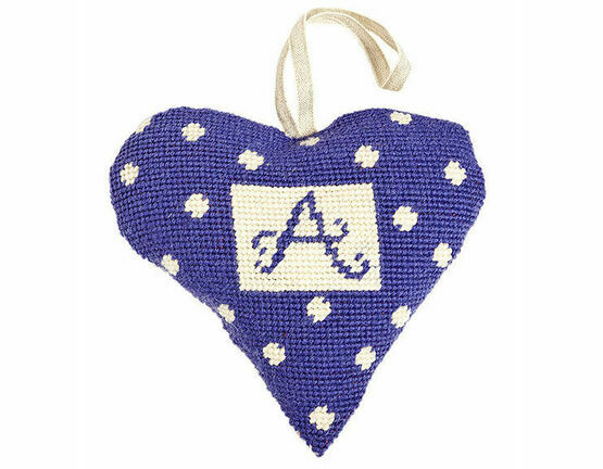 Purple Alphabet Lavender Heart Tapestry Kit