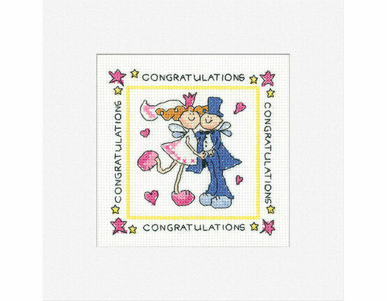 Fairy Wedding Cross Stitch Card Kit