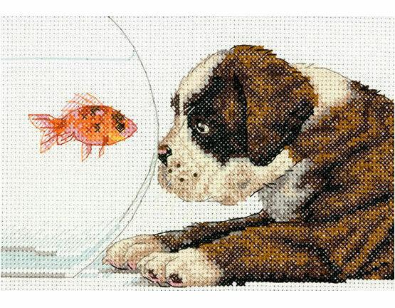 Dog Bowl Cross Stitch Kit