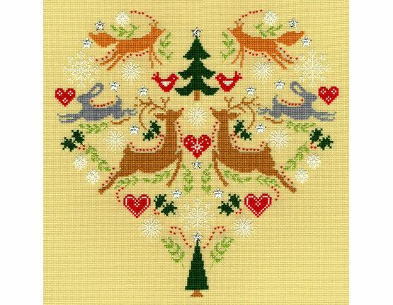 Scandi Heart Cross Stitch Kit