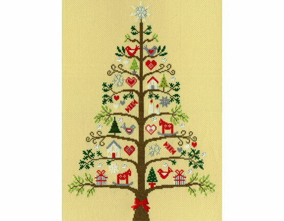 Scandi Tree Cross Stitch Kit