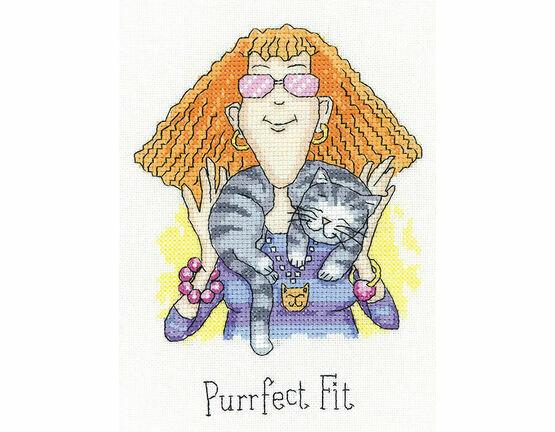 Purrfect Fit Cross Stitch Kit
