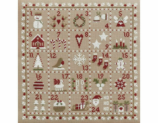 Advent Calendar Cross Stitch Kit