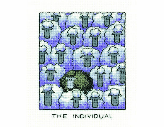 \'The Individual\' Sheep Cross Stitch Kit
