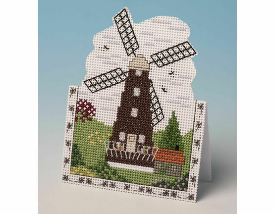 Windmill Card 3D Cross Stitch Kit