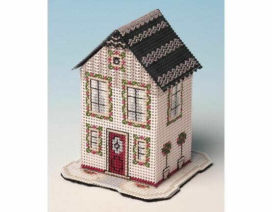 Rose Tree House 3D Cross Stitch Kit