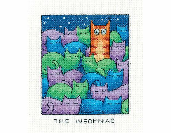 The Insomniac Cat Cross Stitch Kit
