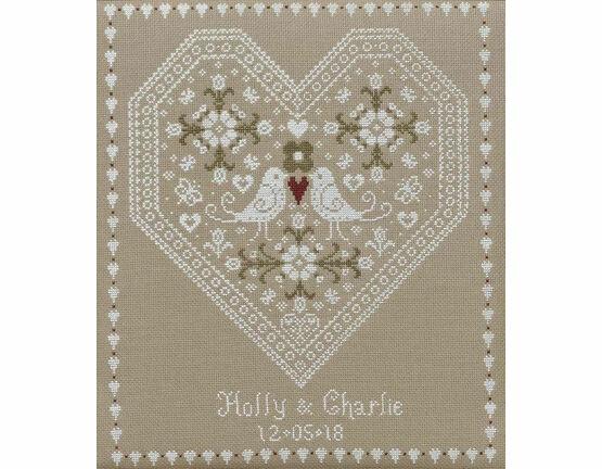 Love Birds Wedding Sampler Cross Stitch Kit