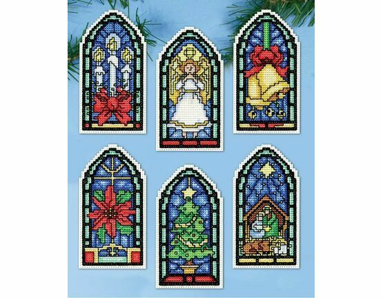 Stained Glass Ornaments Cross Stitch Kit